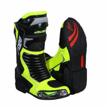 BBG Racing Black Fluorescent Yellow Long Boots