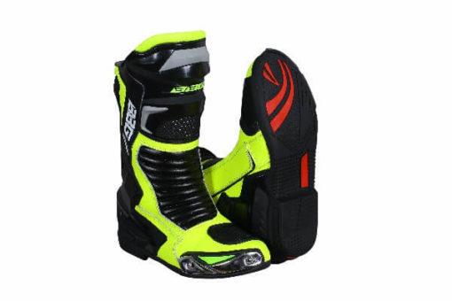 BBG Racing Black Fluorescent Yellow Long Boots