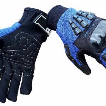 BBG Rider Black Blue Riding Gloves