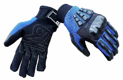 BBG Rider Black Blue Riding Gloves