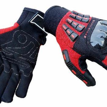 BBG Rider Black Red Riding Gloves