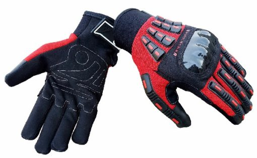 BBG Rider Black Red Riding Gloves