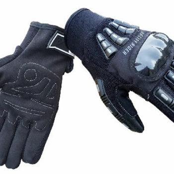 BBG Rider Black Silver Riding Gloves