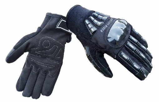 BBG Rider Black Silver Riding Gloves