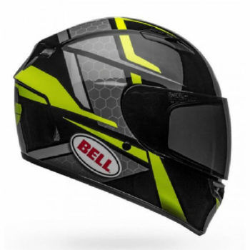 Bell Qualifier Flare Gloss Black Fluorescent Yellow Full Face Helmet