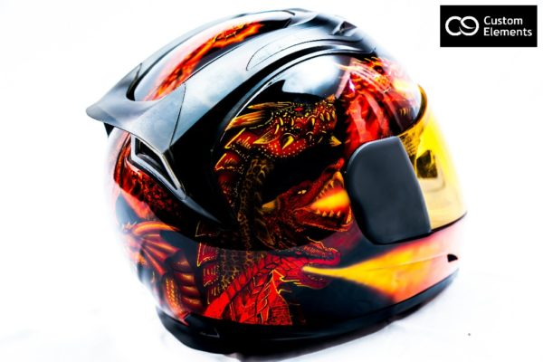 Delzad 7 headed Dragons and White Tiger Custom Helmet 5
