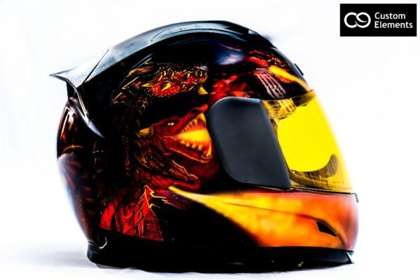 Delzad 7 headed Dragons and White Tiger Custom Helmet 6