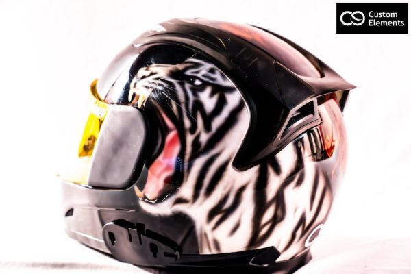 Delzad 7 headed Dragons and White Tiger Custom Helmet 7