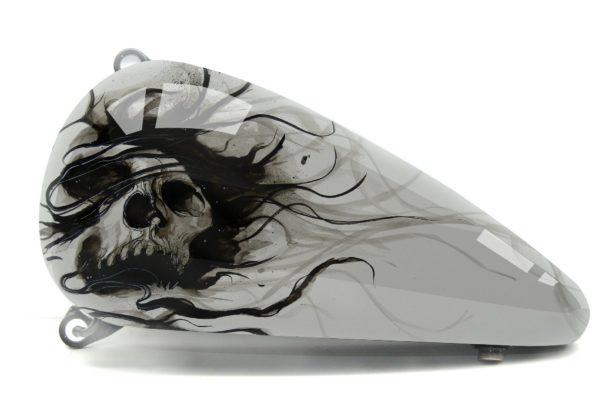 Harley Davidson Fatboy Skull Design 1