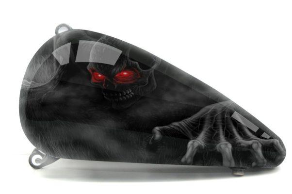 Harley Davidson Fatboy Skull Design 2