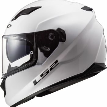 LS 2 FF320 Solid Full Face Gloss White Helmet 1