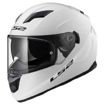 LS 2 FF320 Solid Full Face Gloss White Helmet