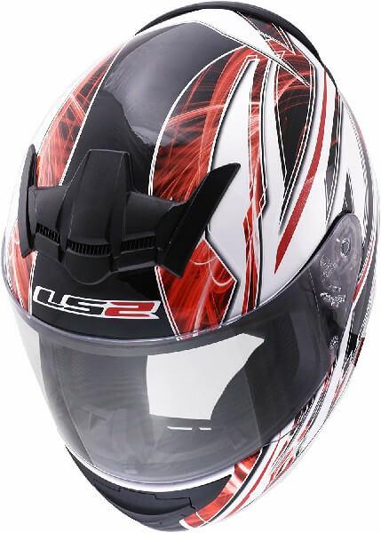 LS 2 FF352 Blast Full Face GLoss Black White Red Helmet 1