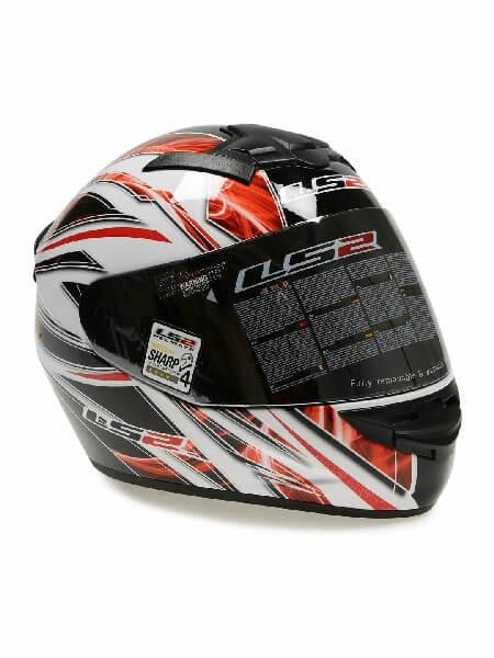 LS 2 FF352 Blast Full Face GLoss Black White Red Helmet 2