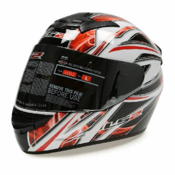 LS 2 FF352 Blast Full Face GLoss Black White Red Helmet