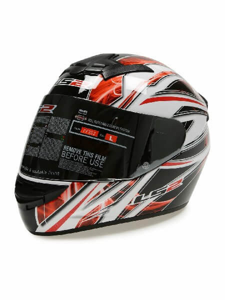 LS 2 FF352 Blast Full Face GLoss Black White Red Helmet