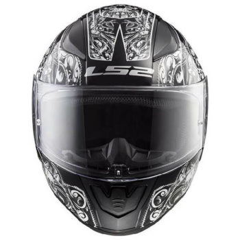 LS 2 FF353 Rapid Crypt Matt Black White Full Face Helmet 1