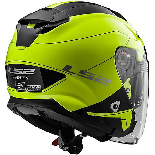 LS 2 OF521 Beyond Open Face Matt Black Fluorescent Yellow Helmets 1