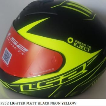 LS2 FF352 Lighter Matt Black Fluorescent Yellow Full Face Helmet