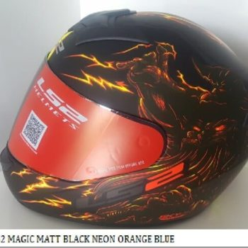LS2 FF352 Magic Matt Black Grey Red Full Face Helmet 2019 2