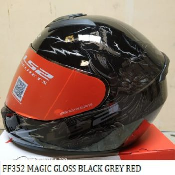 LS2 FF352 Magic Gloss Black Grey Red Full Face Helmet