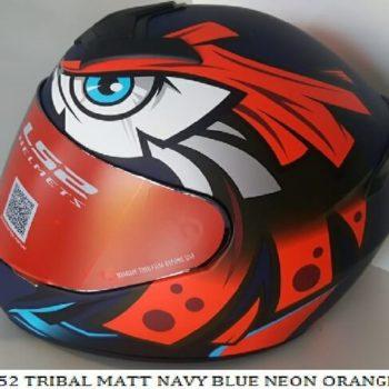 LS2 FF352 Tribal Matt Black Blue Fluorescent Orange Full Face Helmet