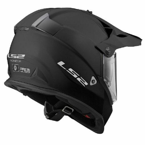 LS2 MX436 Solid Modular Matt Black Helmet 1
