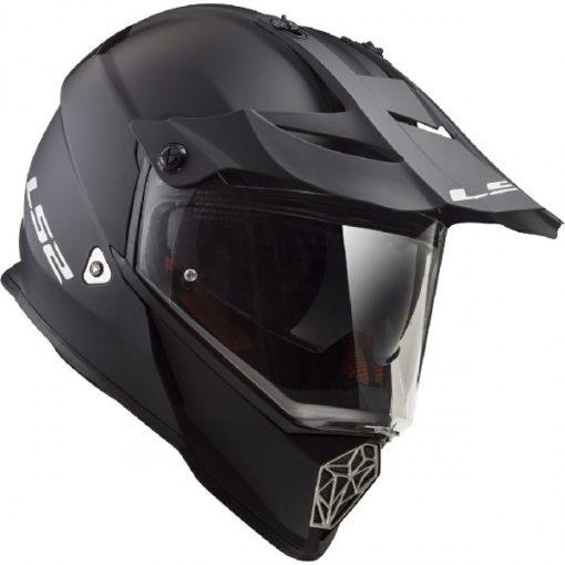 LS2 MX436 Solid Modular Matt Black Helmet 2