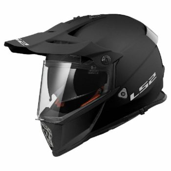 LS2 MX436 Solid Modular Matt Black Helmet