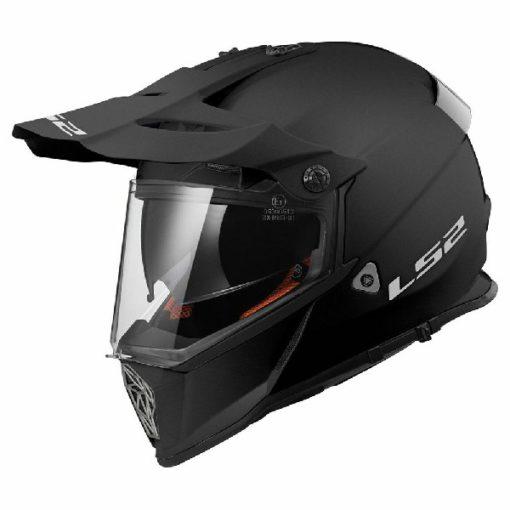 LS2 MX436 Solid Modular Matt Black Helmet