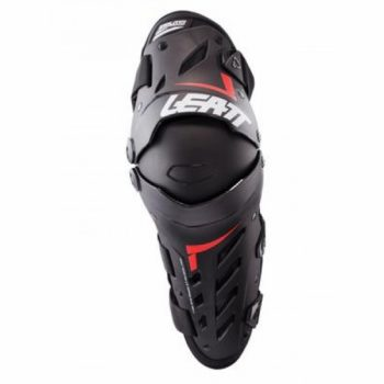 Leatt Dual Axis Black White and Red Knee and Shin Guard