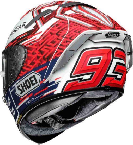 Shoei X Spirit III Marquez 5 Gloss Red White Blue Full Face Helmet 1