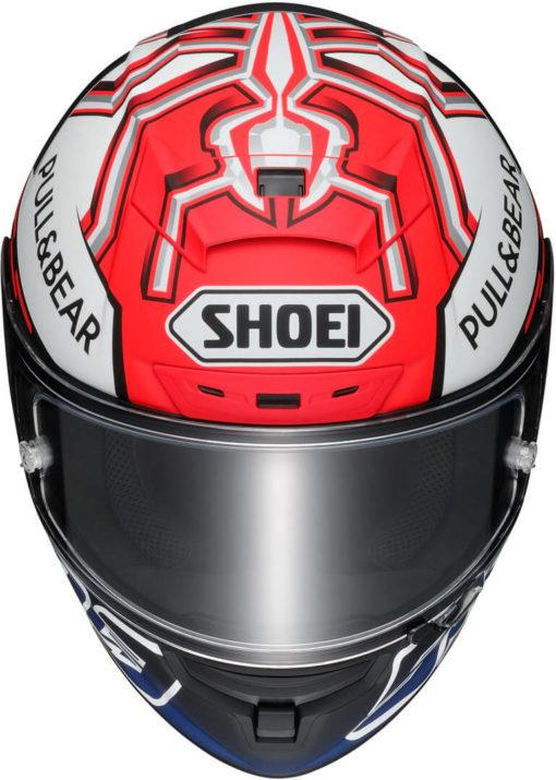 Shoei X Spirit III Marquez 5 Gloss Red White Blue Full Face Helmet 2