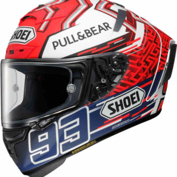 Shoei X Spirit III Marquez 5 Gloss Red White Blue Full Face Helmet