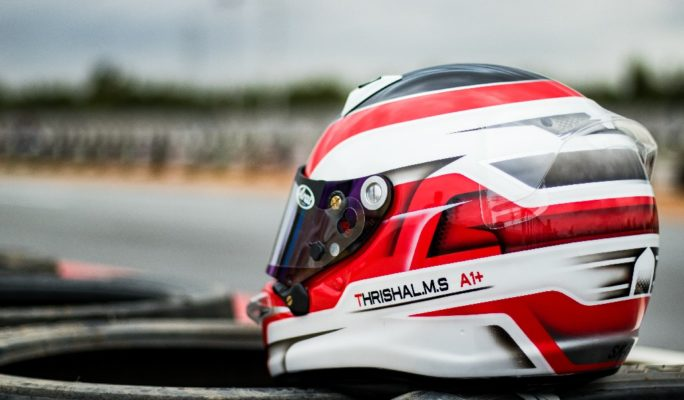 Thrishal Racing Custom Painted Helmet 1