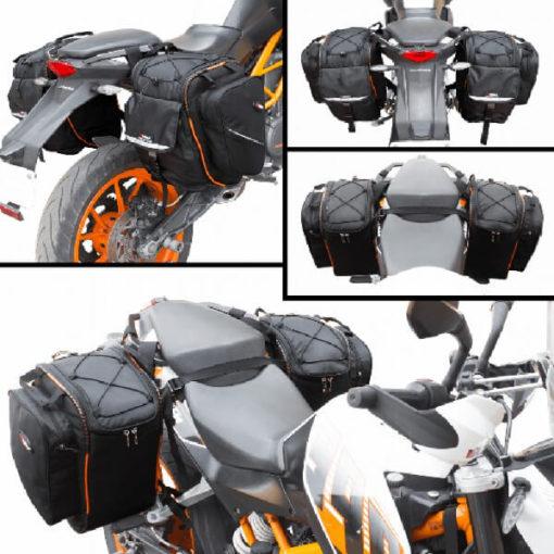 Viaterra 100 Waterproof Velox 2017 Motorcycle Orange Saddlebags for KTM Duke 4