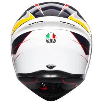 AGV K 1 Pitlane Gloss White Blue Red Yellow Full Face Helmet 1
