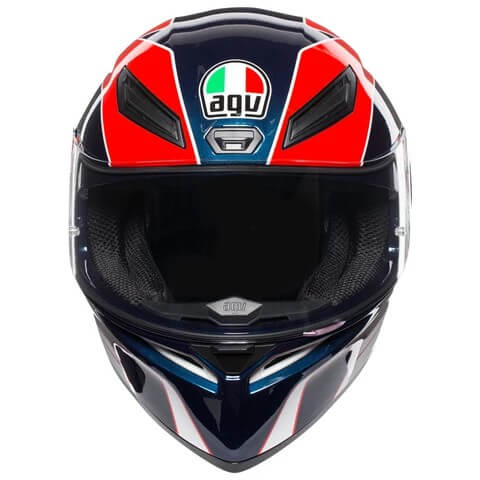 AGV K 1 Pitlane Gloss White Blue Red Yellow Full Face Helmet 2