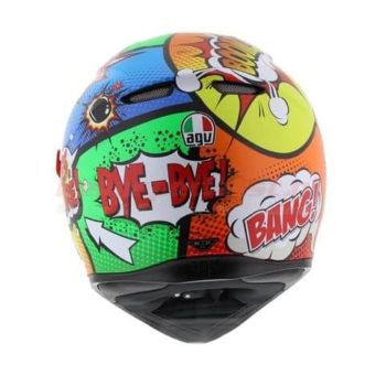 AGV K 3 SV Baloon Matt Red Orange Blue Green Full Face Helmet 1