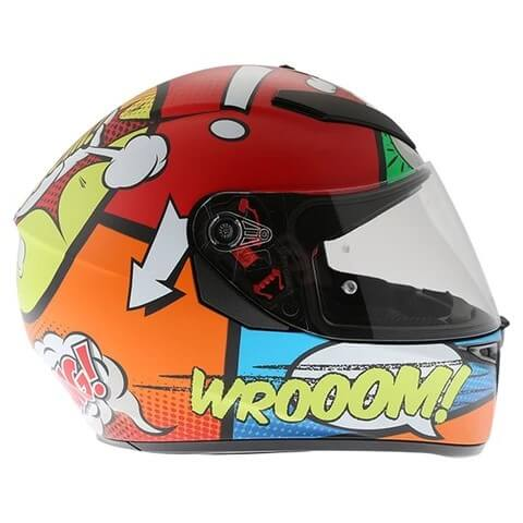 AGV K 3 SV Baloon Matt Red Orange Blue Green Full Face Helmet 2
