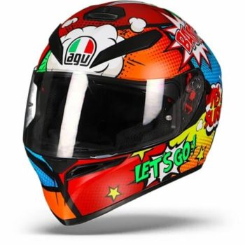 AGV K 3 SV Baloon Matt Red Orange Blue Green Full Face Helmet