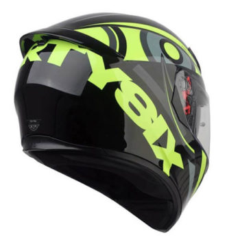 AGV K 3 Soleluna 46 Gloss Black Fluorescent Yellow Full Face Helmet 1
