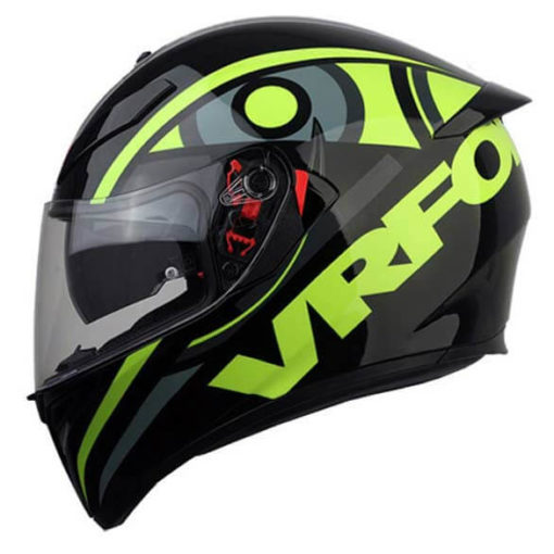 AGV K 3 Soleluna 46 Gloss Black Fluorescent Yellow Full Face Helmet