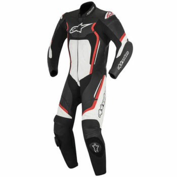 Alpinestars Motegi V2 1PC Leather Black Red White Suit