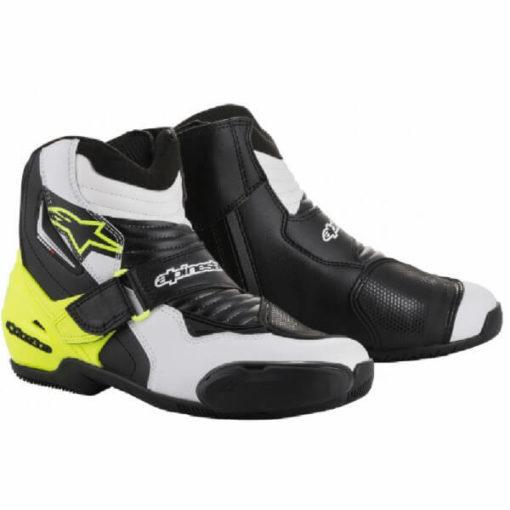 Alpinestars SMX 1 R Black White Yellow Boots