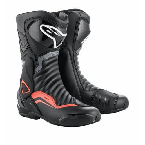 Alpinestars SMX 6 V2 Black Gray Fluorescent Red Boots