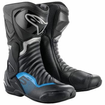 Alpinestars SMX 6 V2 Black Gunmetal Blue Boots