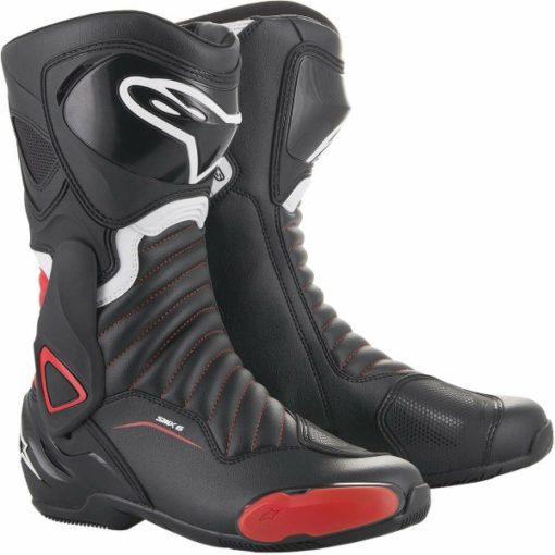 Alpinestars SMX 6 V2 Black Red Riding Boots