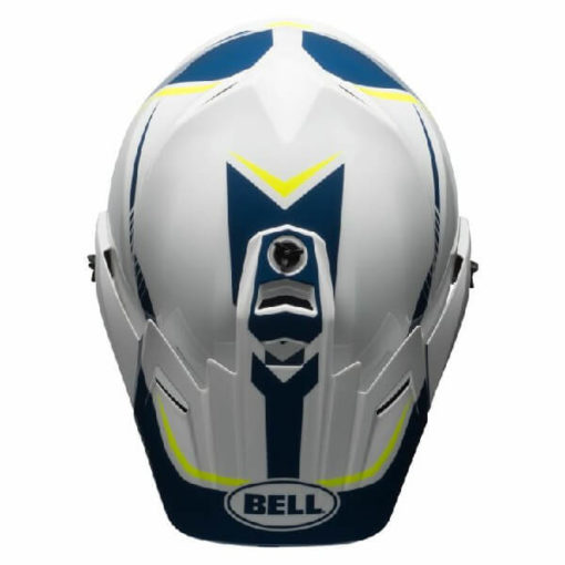 Bell MX 9 Adventure MIPS Torch White Blue Yellow Dual Sport Helmet 1