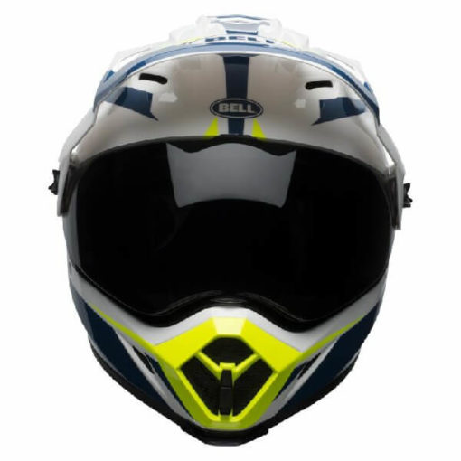 Bell MX 9 Adventure MIPS Torch White Blue Yellow Dual Sport Helmet 2